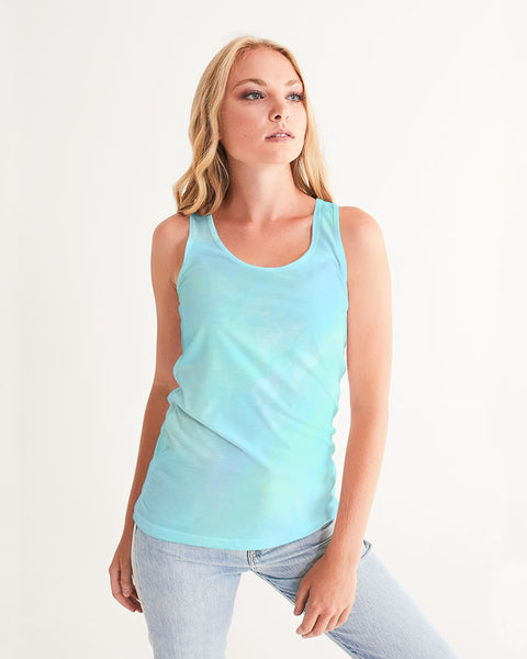 Clouds Pastel Blue Women's Tank