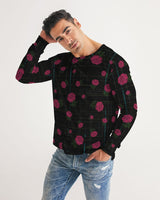 Pink Plaid Floral Men's Long Sleeve Tee