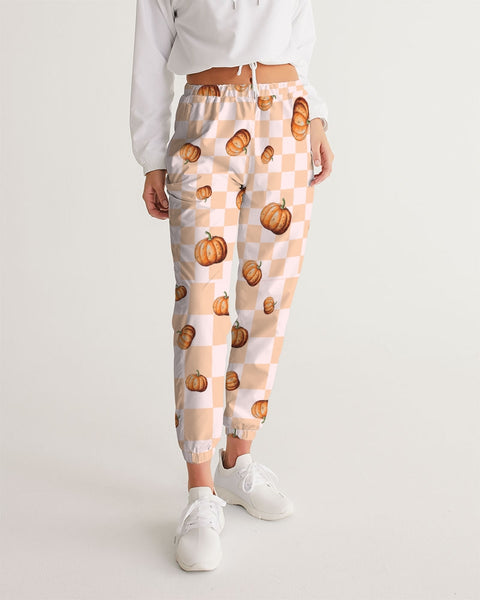 Pumpkin Checker Women's Track Pants