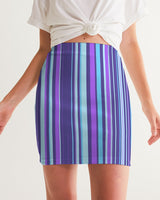 Purple LSD Barcode Women's Mini Skirt