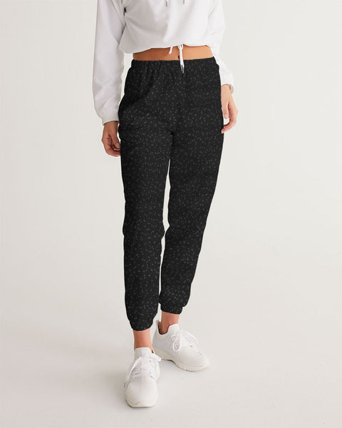 Black Specked Women's Track Pants