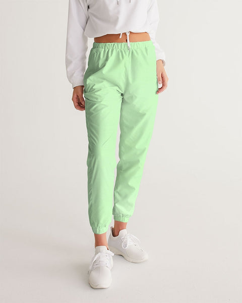 Solid Pastel Green Women's Track Pants