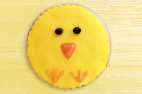 Easter chick biscuits
