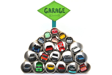 How to make a garage for toy cars
