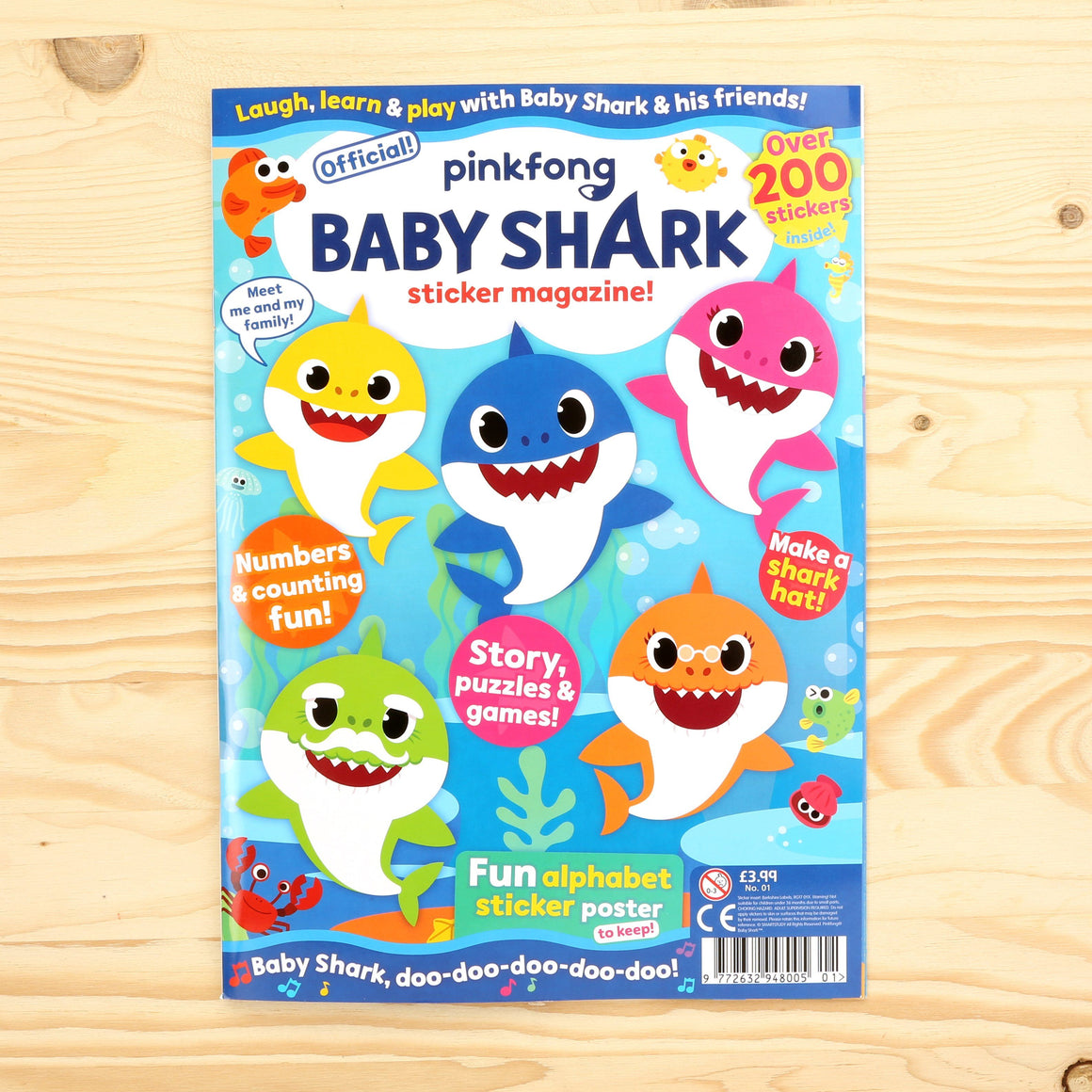 Baby Shark Sticker Special Magazine - Issue 1 Magazine IMC New Stock