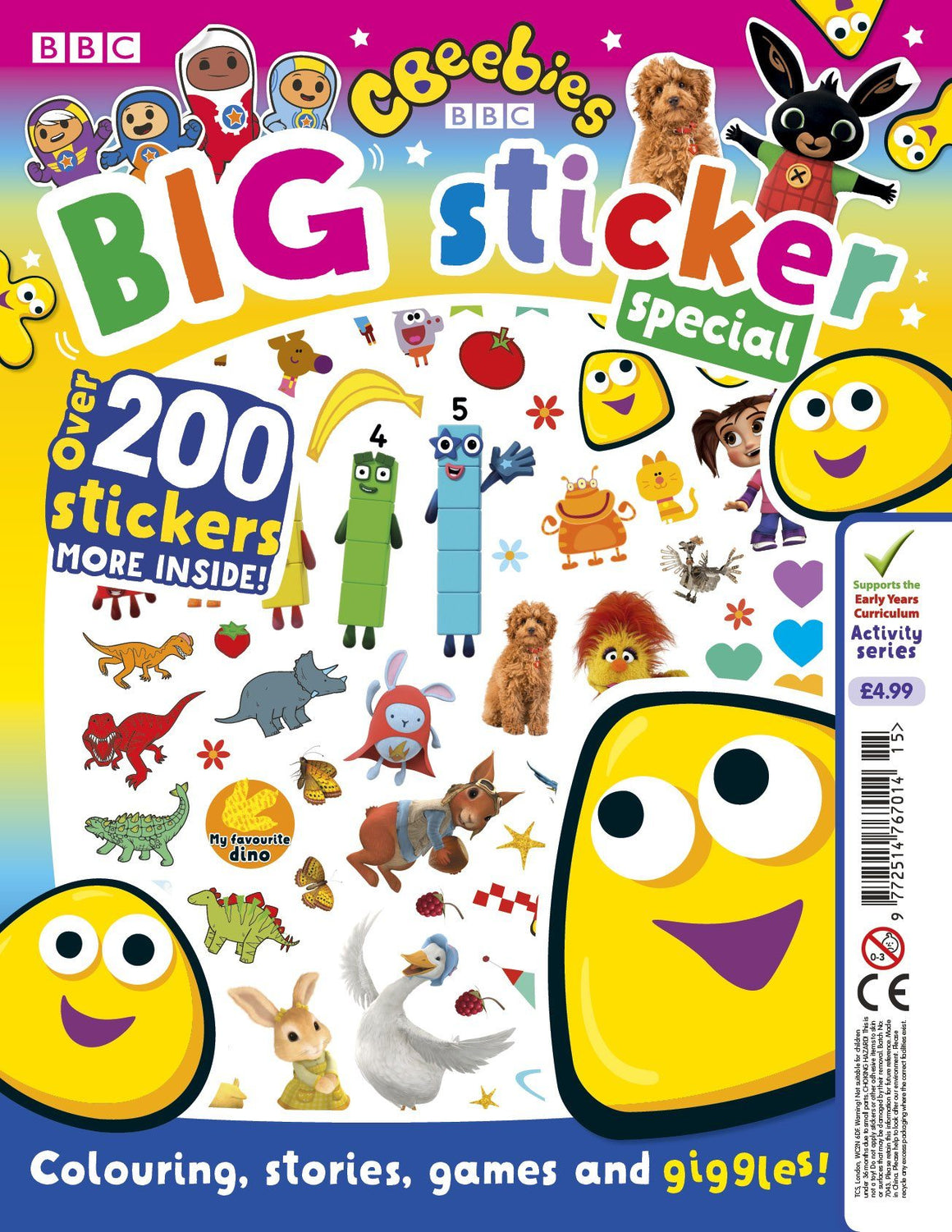 CBeebies Big Sticker Special Magazine IMC New Stock