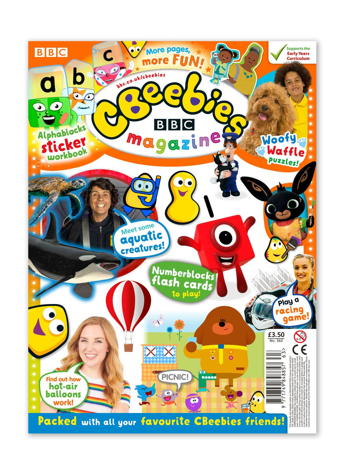 CBeebies Magazine Issue 563 Ungifted Magazine IMC New Stock