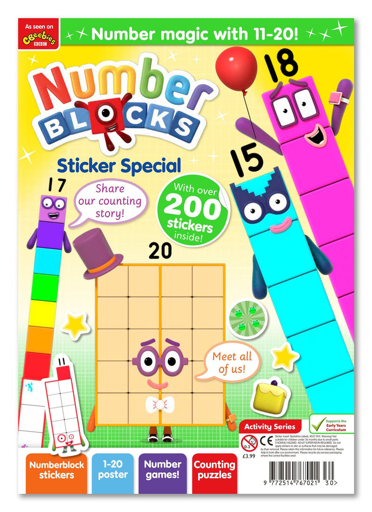 Cbeebies Numberblocks Sticker Special Magazine IMC New Stock
