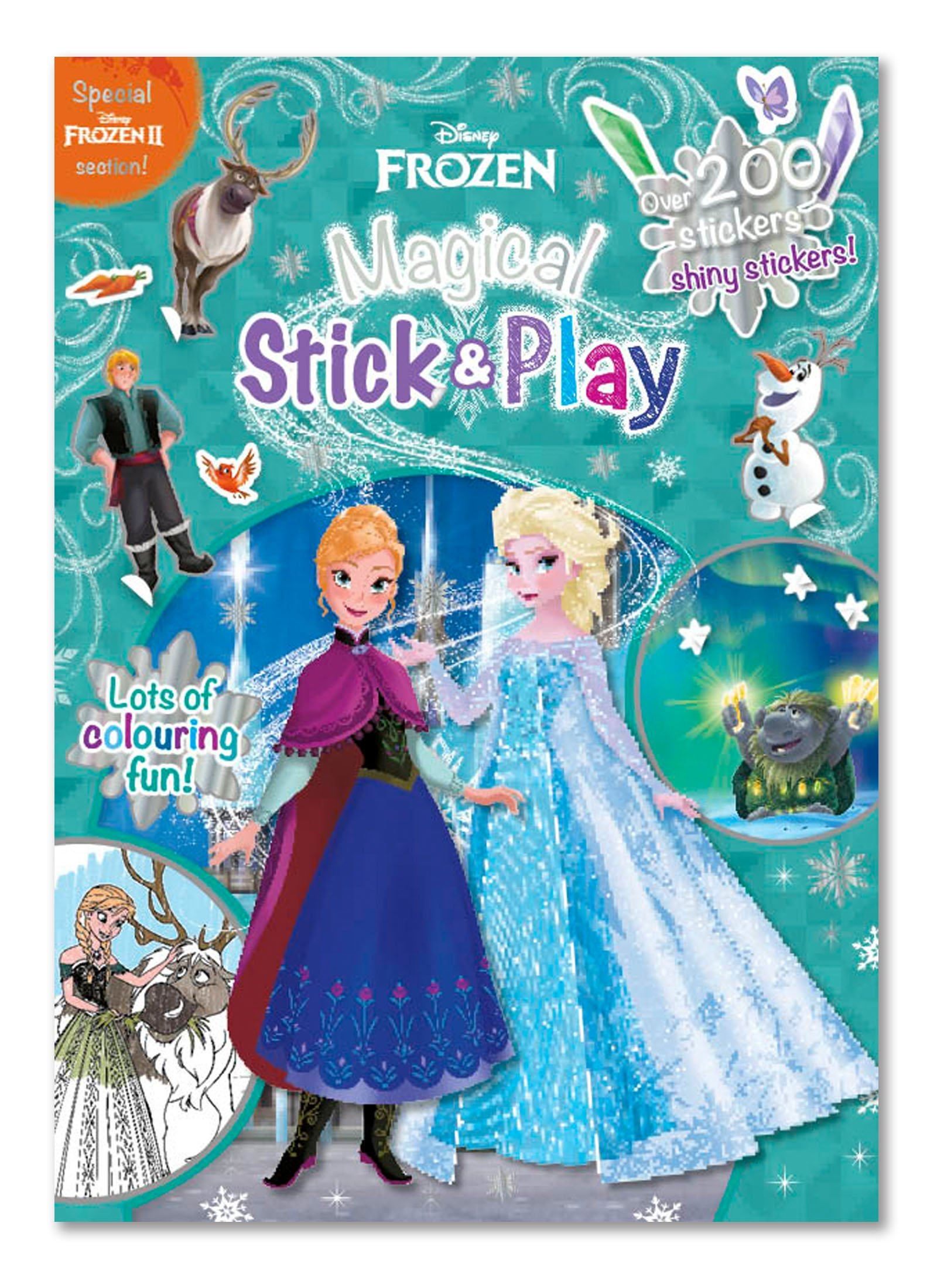 Frozen Magical Stick and Play Magazine Magazine IMC New Stock