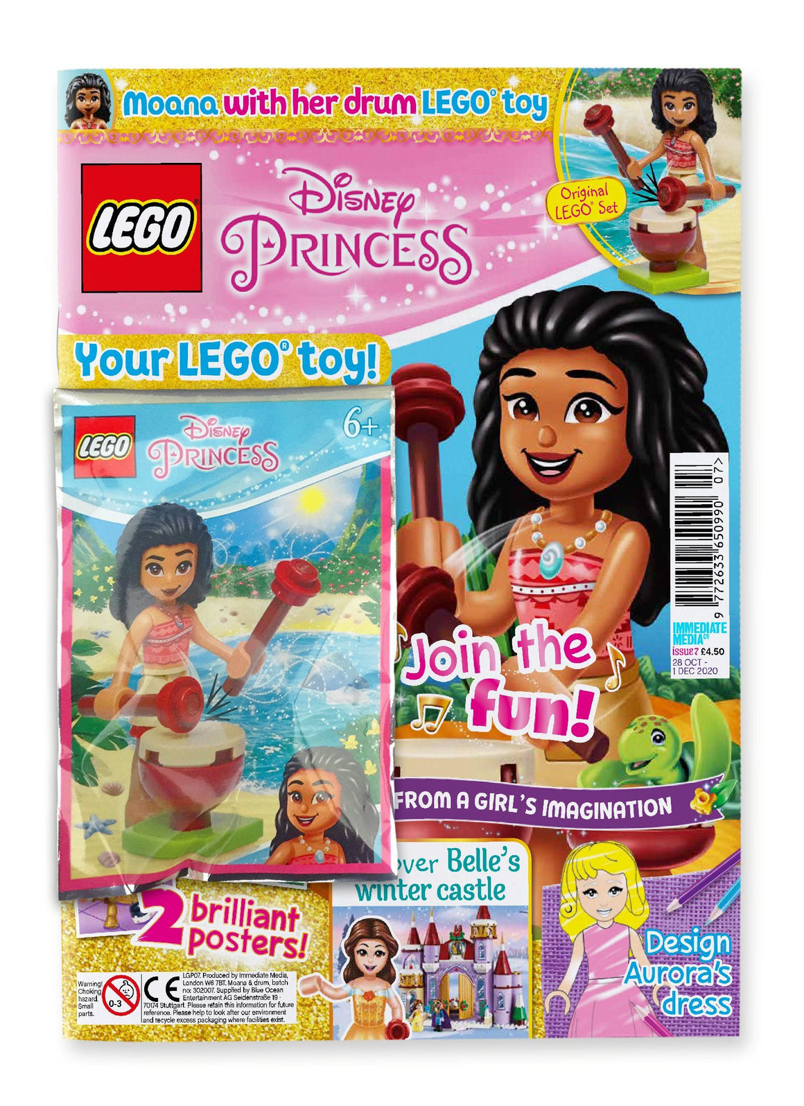 LEGO Disney Princess Issue 7 Magazine 5 Minute Fun Shop