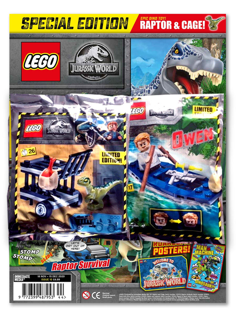 LEGO Specials Jurassic World Magazine Issue 10 Magazine 5 Minute Fun Shop