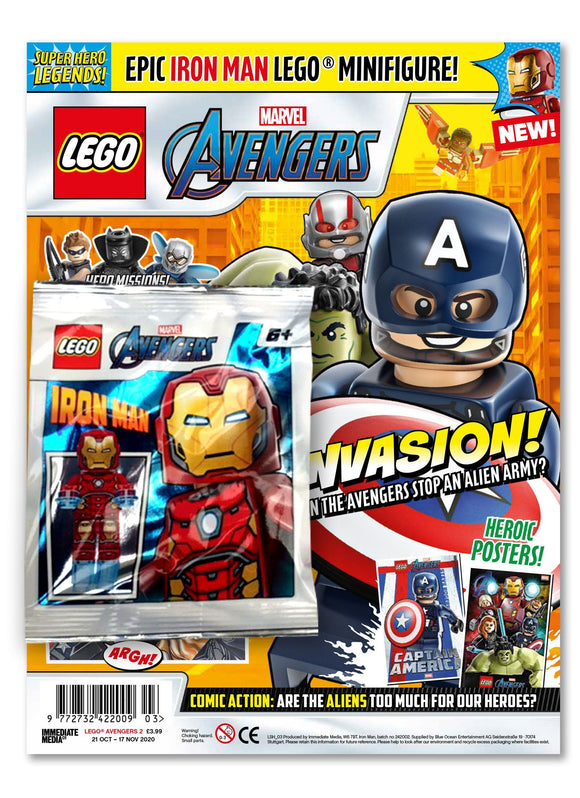 LEGO Superhero Legends Issue 3 - Iron Man Magazine 5 Minute Fun Shop