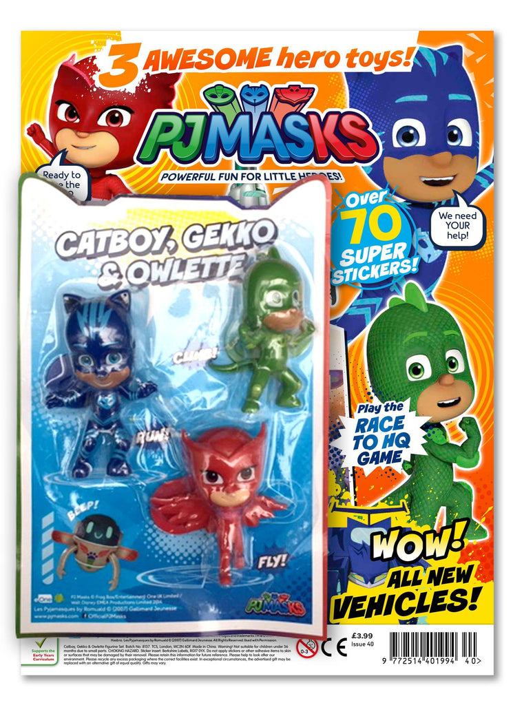 PJ MASKS MAGAZINE ISSUE 40 GIFTED Magazine 5 Minute Fun Shop