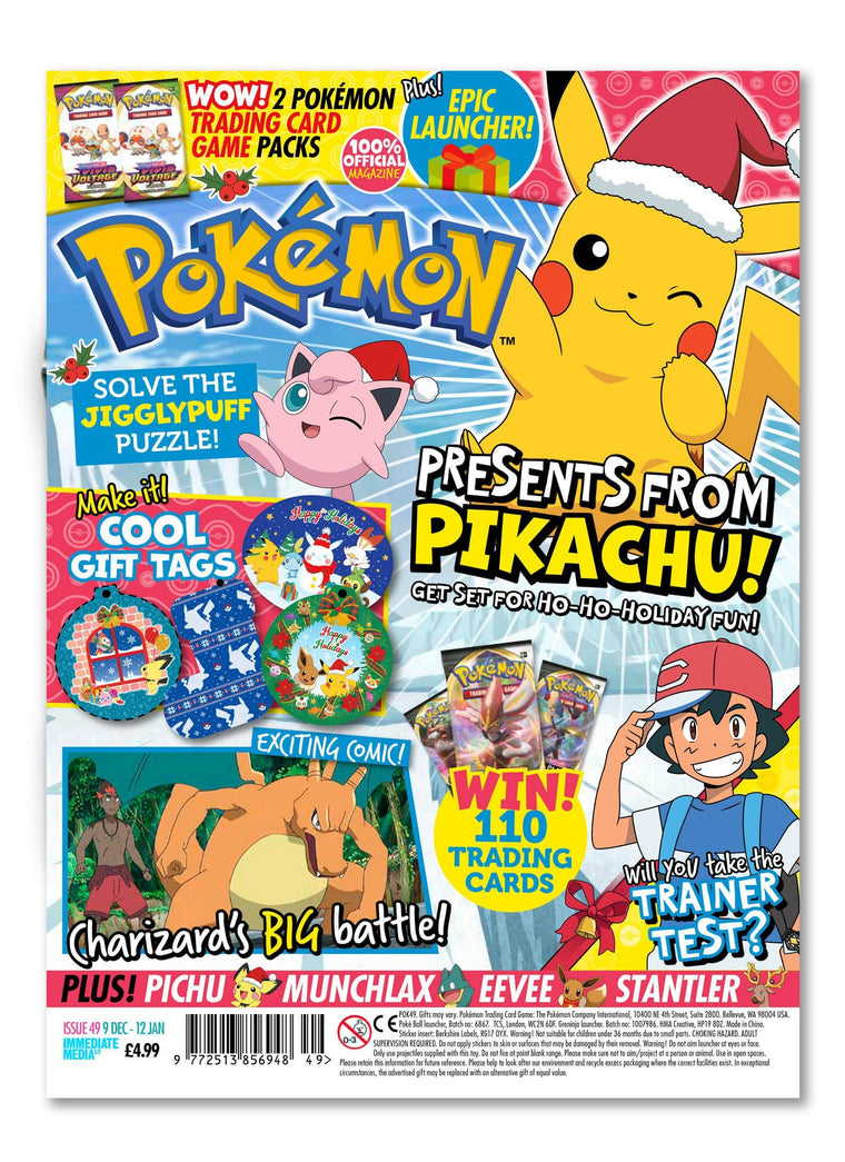 Pokemon Magazine Issue 49 - Ungifted Magazine 5 Minute Fun Shop