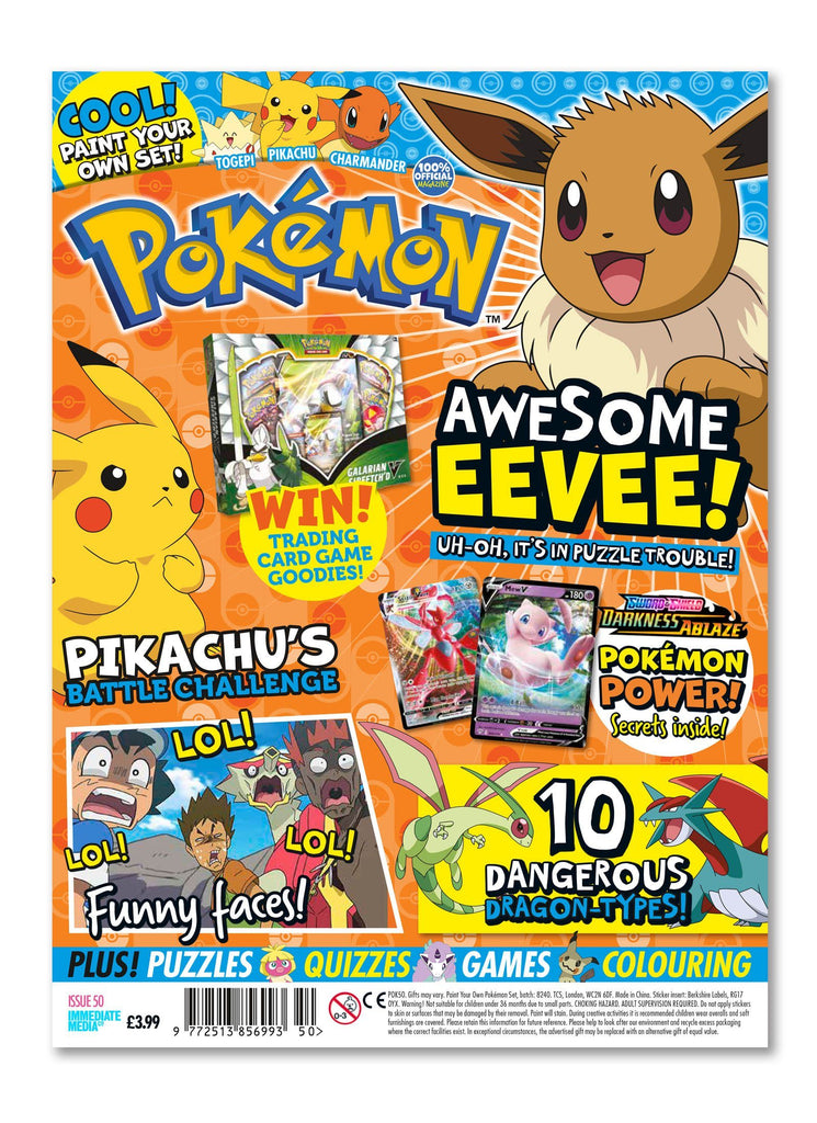 Pokemon Magazine Issue 50 - Ungifted Magazine 5 Minute Fun Shop
