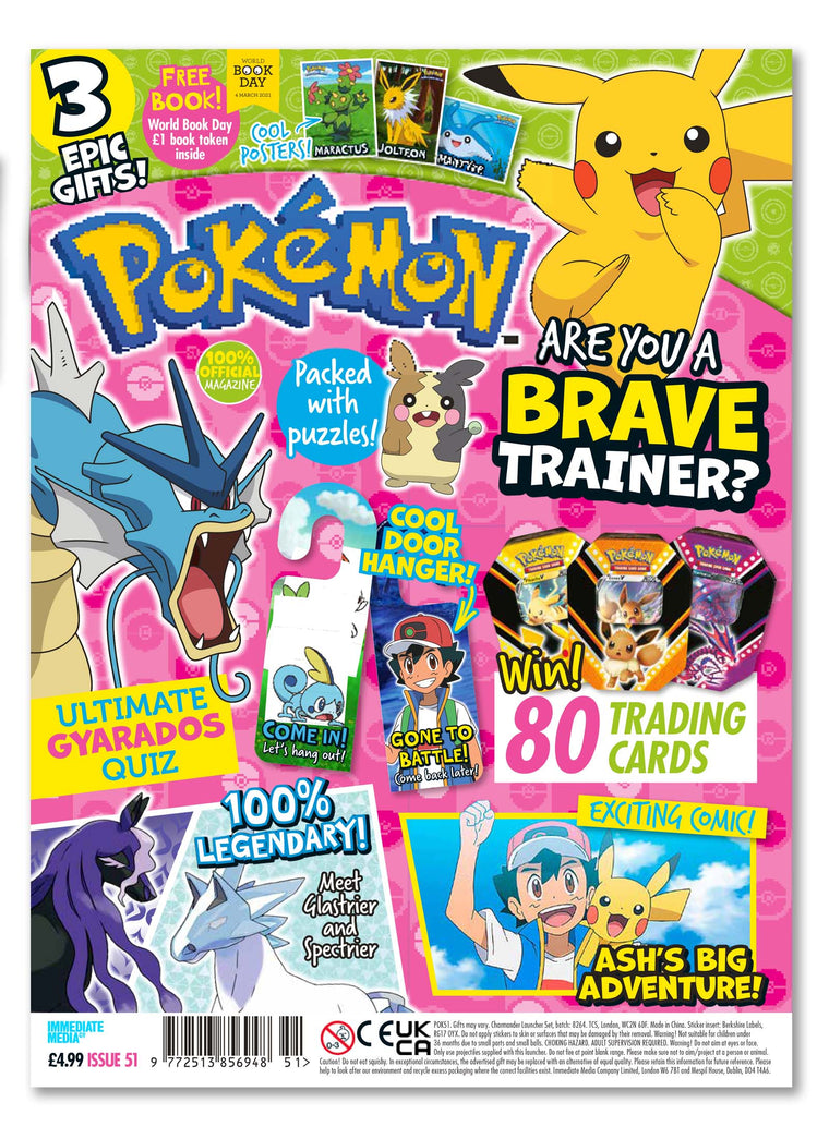 Pokemon Magazine Issue 51 - Ungifted Magazine 5 Minute Fun Shop