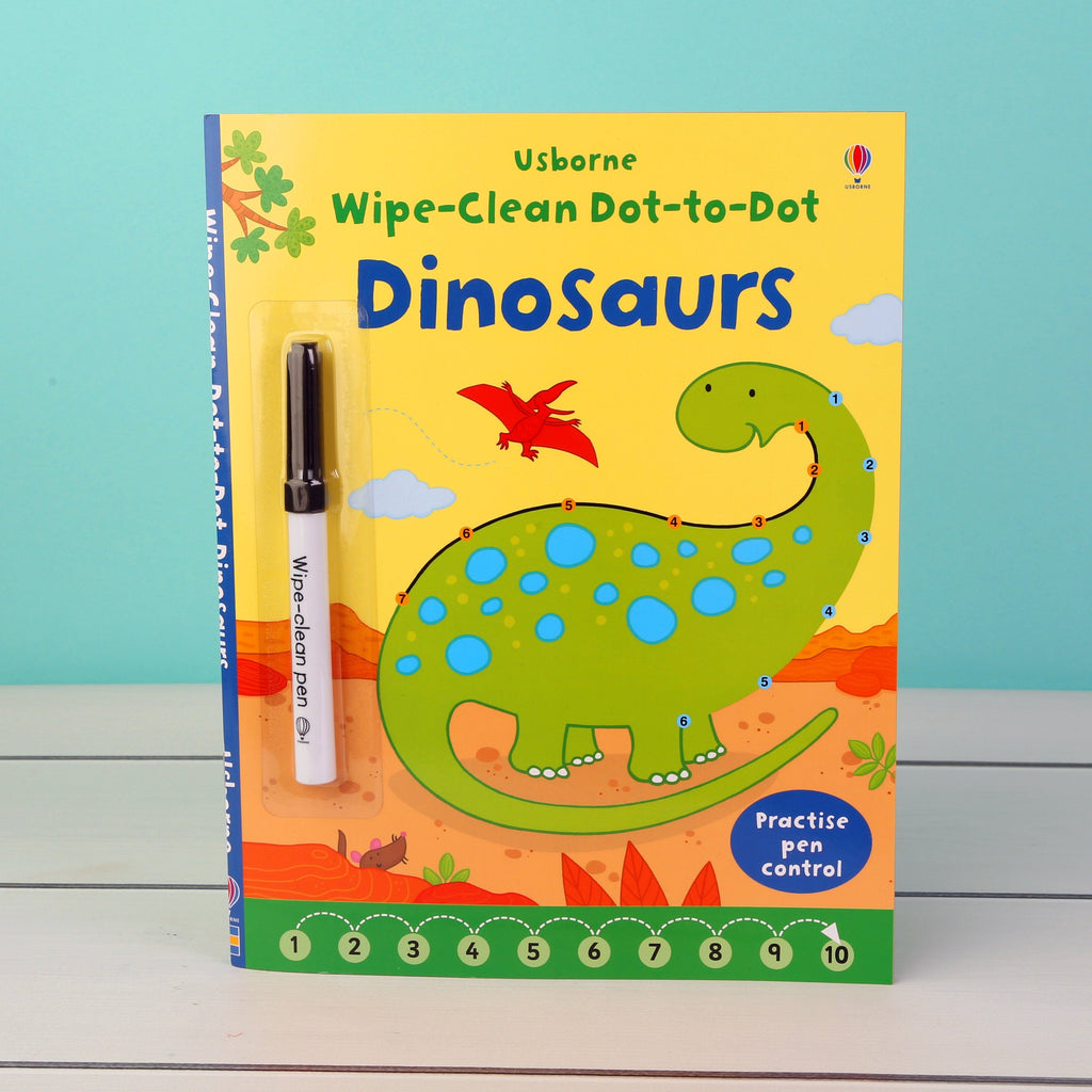 Wipe Clean Dot to Dot Dinosaurs Book Allsorted