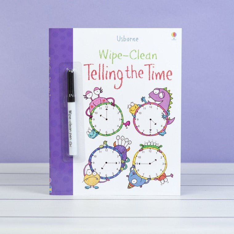 Wipe Clean Telling the Time Book Book Allsorted