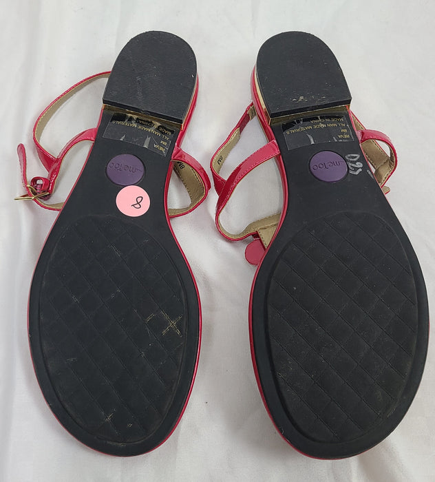 MeToo pink and gold sandals 8