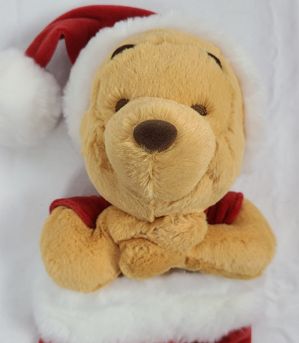 "Winnie the Pooh plush stocking ""Baby's First Christmas"""