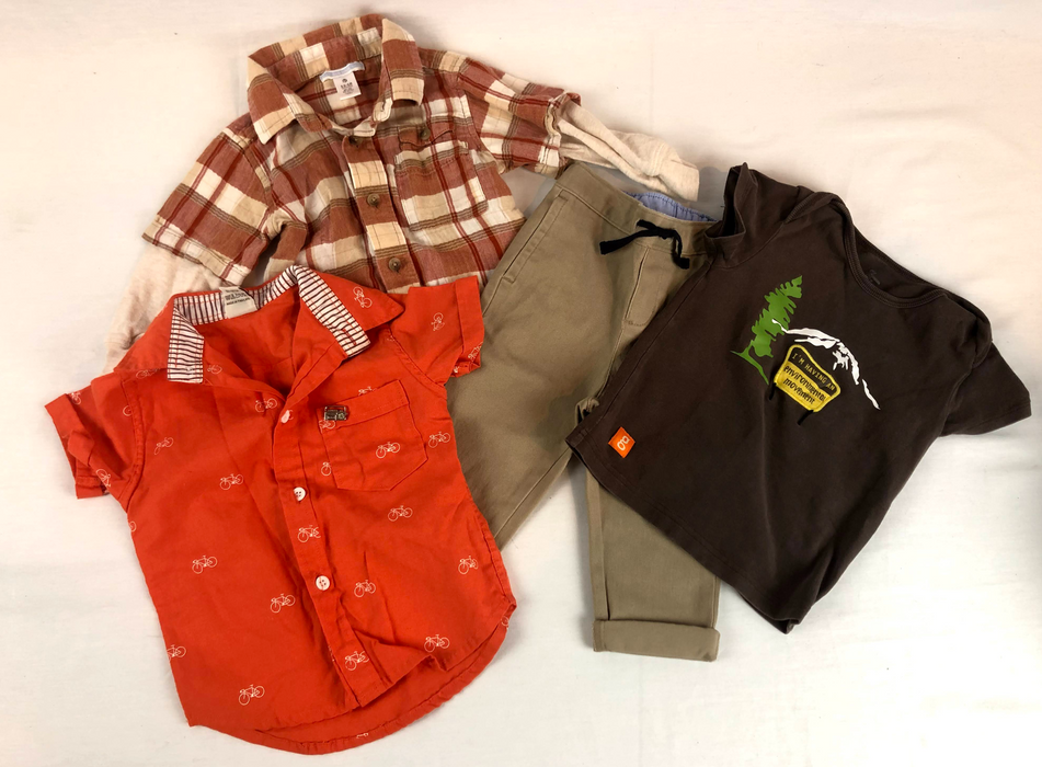 4 Piece Boys Tops and Pants Bundle Size 12-18m