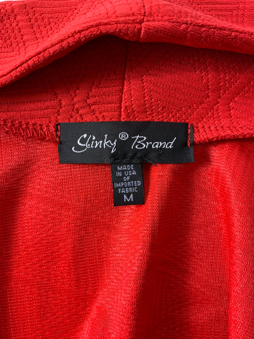 Slinky Brand Red Cardigan Size Medium