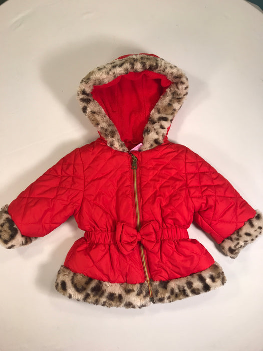Pistachio Baby Girl Red Winter Coat 9M