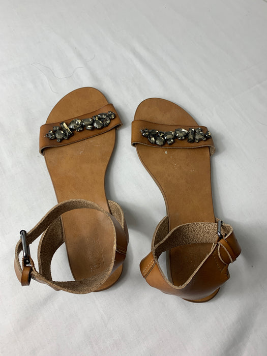 Womens Leather Sandals Size 8.5