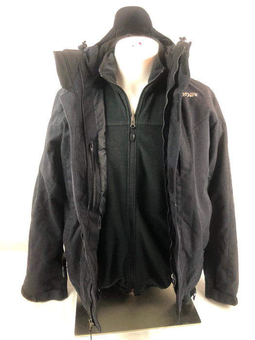 Spyder Black 2 in 1 Jacket and Coat Size M