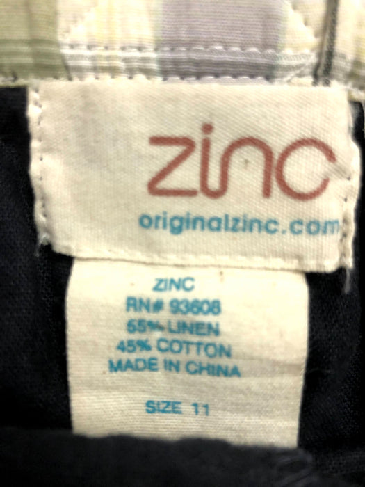 Zinc Linen / Cotton Culotte Pants Size 11