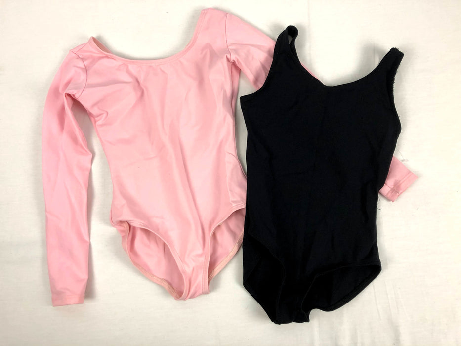 2 Piece Pink and Black Leotards Size 7/8