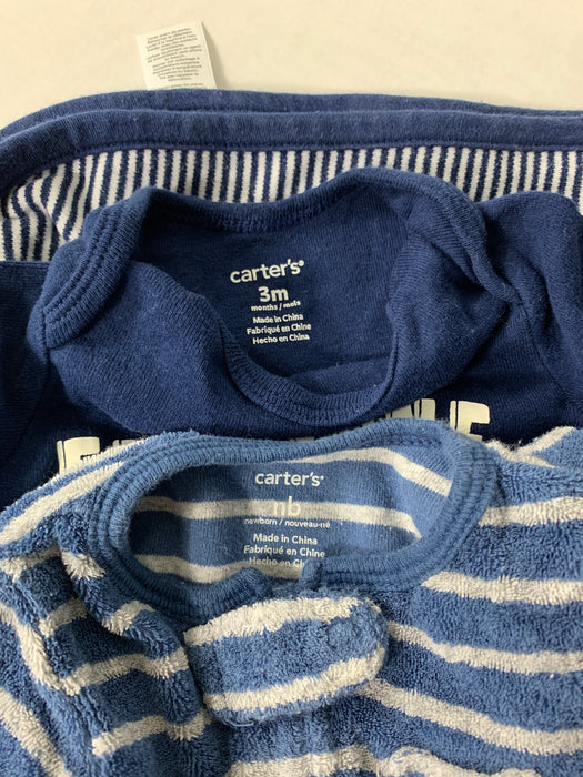 Bundle Carter's Boys Clothes and Blanket Size NB-3m