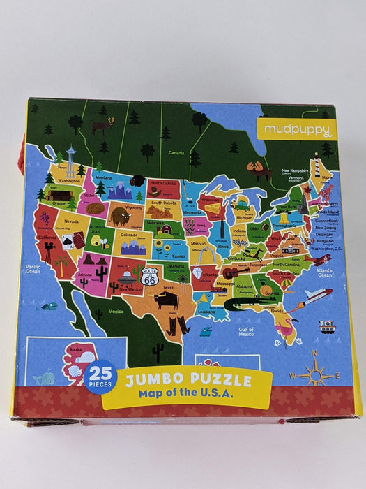 Jumbo Puzzle Map of USA