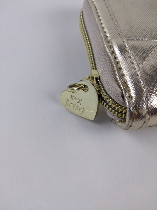 Betsey Johnson New York N.Y. Gold Zipper Wallet