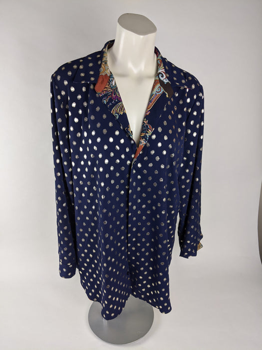 Chico's Reversible Women's Button Up Size XL