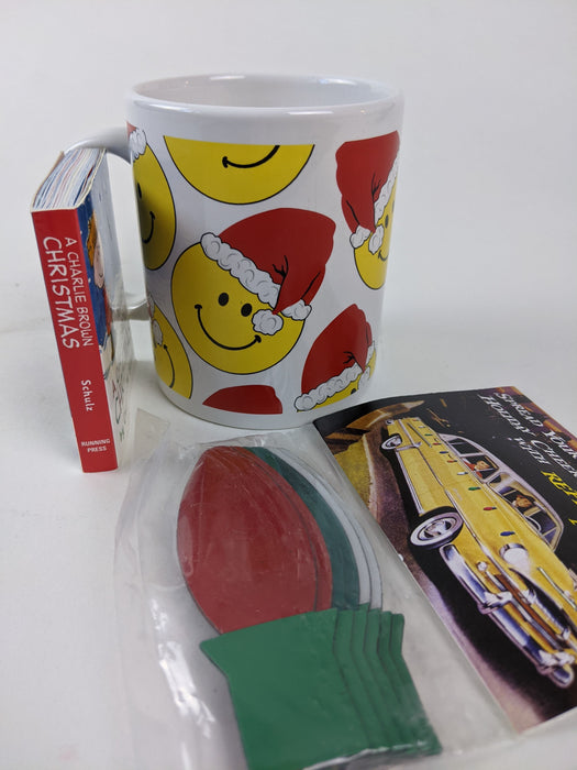 3 pc. Bundle Holiday Mug, Book & Magnets
