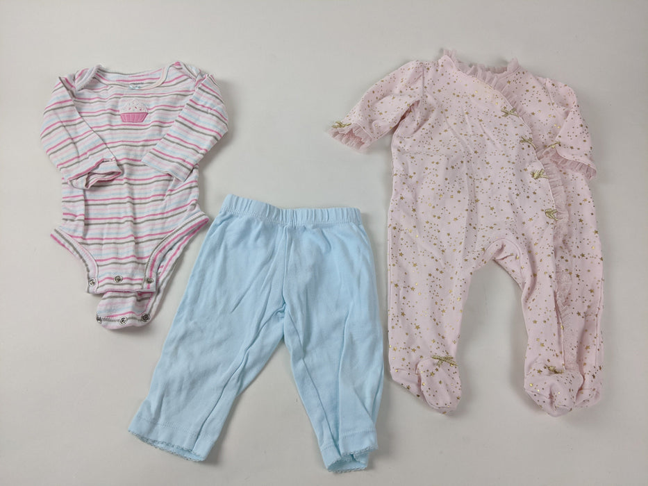 3 pc. Bundle Baby Girls Clothes Size 6m