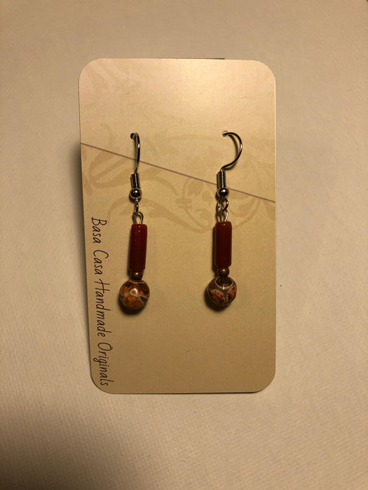 New handmade beaded earrings