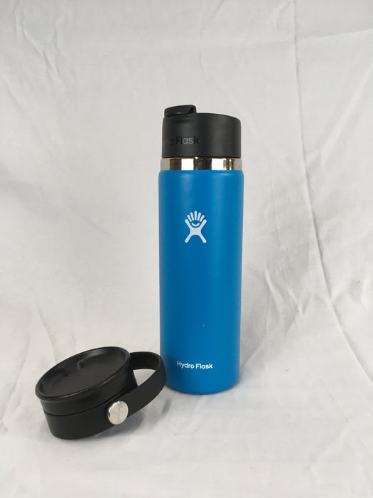 Light Blue Hydro Flask with two tops