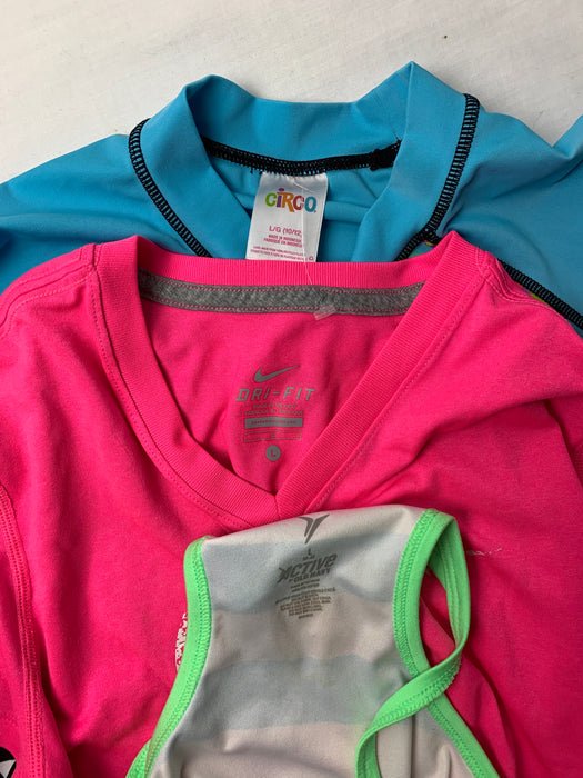 Bundle girls activewear and swim suit top size 10/12