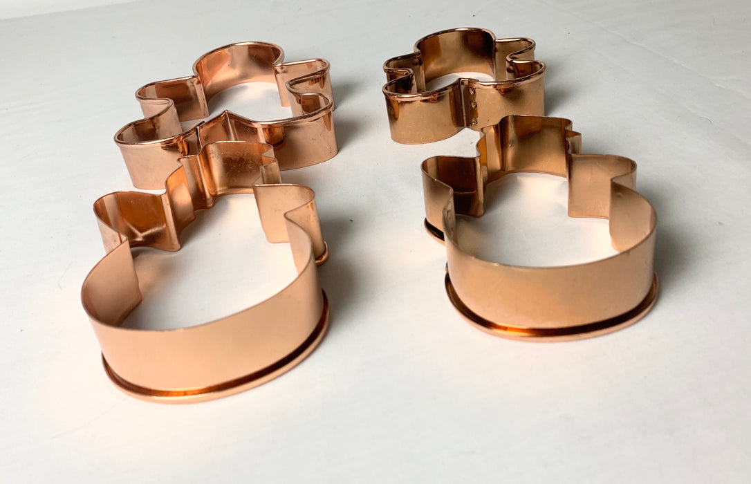Copper cookie cutters