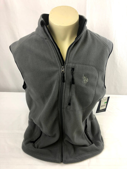 NWT U.S. Polo Assn. Grey Fleece Vest