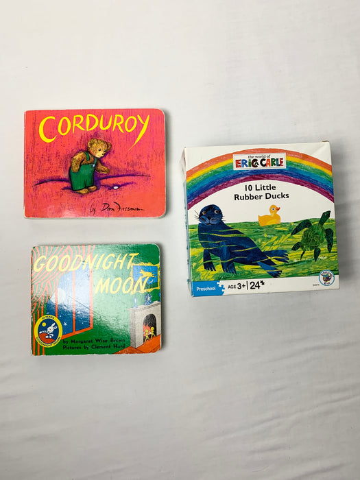 Bundle children's books and puzzle