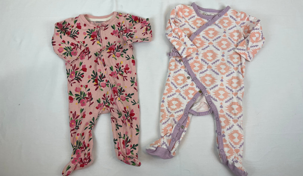 Gymboree baby girl sleeper bundle