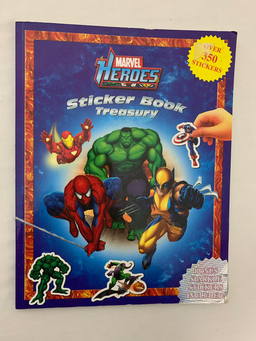 Marvel heroes sticker book