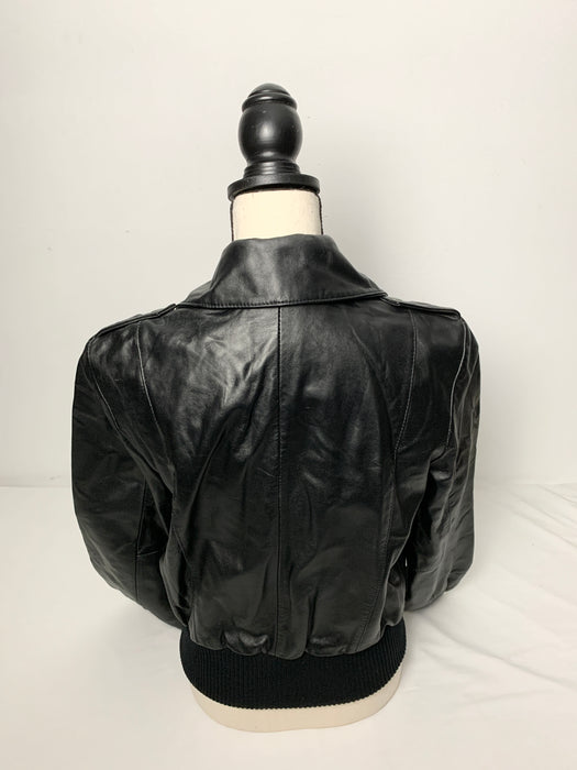 INC Womans leather jacket size small