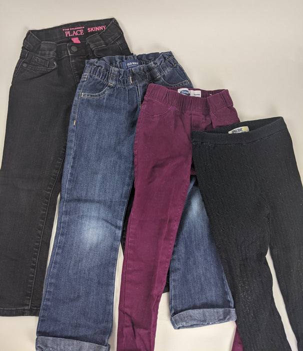 4 pc. Bundle Girls 5T Pants and Jeans