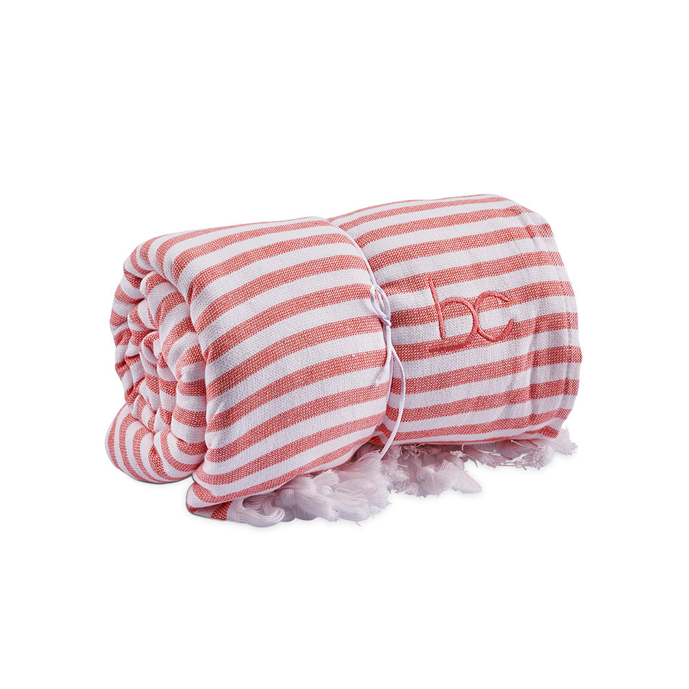 funky terry towel - peach stripe