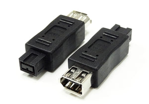 1394b Adapter, 9 Pin Male to 6 Pin Female