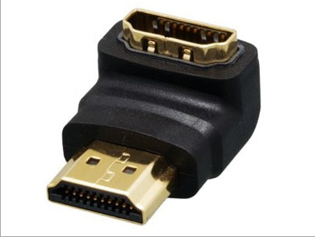 HDMI Male-Female, 90 Degree Adapter